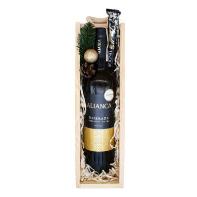 skrzynka prezentowa z winem